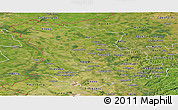 Satellite Panoramic Map of Düsseldorf