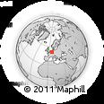 Outline Map of Solingen