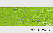 Physical Panoramic Map of Wesel