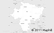 Silver Style Simple Map of Wesel