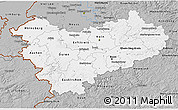 Gray 3D Map of Köln