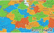 Political 3D Map of Köln