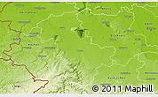 Physical 3D Map of Düren