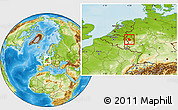 Physical Location Map of Düren
