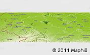 Physical Panoramic Map of Düren