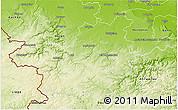 Physical 3D Map of Euskirchen