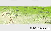 Physical Panoramic Map of Euskirchen