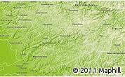 Physical 3D Map of Oberbergischer Kreis