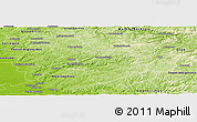 Physical Panoramic Map of Oberbergischer Kreis