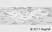 Silver Style Panoramic Map of Köln