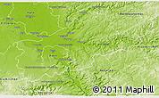 Physical 3D Map of Rhein-Sieg-Kreis