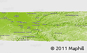 Physical Panoramic Map of Rhein-Sieg-Kreis