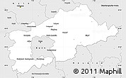 Silver Style Simple Map of Rhein-Sieg-Kreis