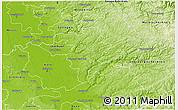 Physical 3D Map of Rheinisch-Bergischer Kreis