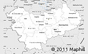 Silver Style Simple Map of Köln