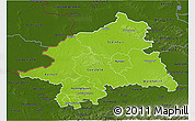 Physical 3D Map of Münster, darken
