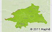 Physical 3D Map of Münster, lighten