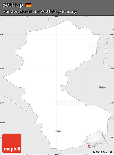 Free Silver Style Simple Map Of Bottrop - Bottrop map