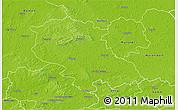 Physical 3D Map of Coesfeld