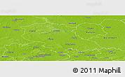 Physical Panoramic Map of Coesfeld