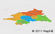 Political Panoramic Map of Münster, cropped outside