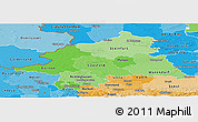 Political Shades Panoramic Map of Münster