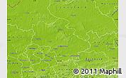 Physical Map of Recklinghausen