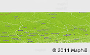 Physical Panoramic Map of Recklinghausen