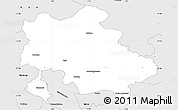 Silver Style Simple Map of Recklinghausen