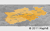 Political Shades Panoramic Map of Nordrhein-Westfalen, desaturated