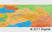 Political Shades Panoramic Map of Nordrhein-Westfalen