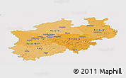 Political Shades Panoramic Map of Nordrhein-Westfalen, single color outside