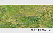 Satellite Panoramic Map of Nordrhein-Westfalen