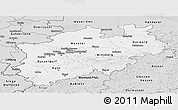 Silver Style Panoramic Map of Nordrhein-Westfalen