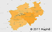 Political Shades Simple Map of Nordrhein-Westfalen, single color outside