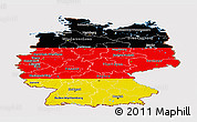 Flag Panoramic Map of Germany, flag centered