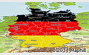 Flag Panoramic Map of Germany, physical outside