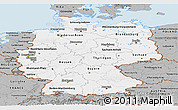 Gray Panoramic Map of Germany
