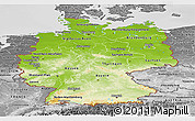 Physical Panoramic Map of Germany, desaturated