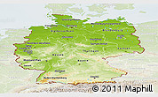 Physical Panoramic Map of Germany, lighten