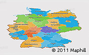 Political Panoramic Map of Germany, cropped outside