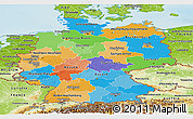 Political Panoramic Map of Germany, physical outside