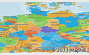 Political Panoramic Map of Germany