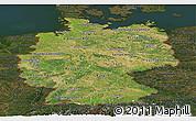 Satellite Panoramic Map of Germany, darken