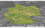 Satellite Panoramic Map of Germany, desaturated