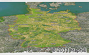 Satellite Panoramic Map of Germany, semi-desaturated, land only
