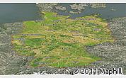 Satellite Panoramic Map of Germany, semi-desaturated