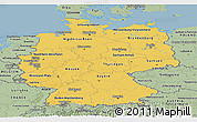 Savanna Style Panoramic Map of Germany