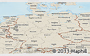 Shaded Relief Panoramic Map of Germany