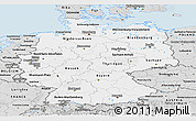 Silver Style Panoramic Map of Germany